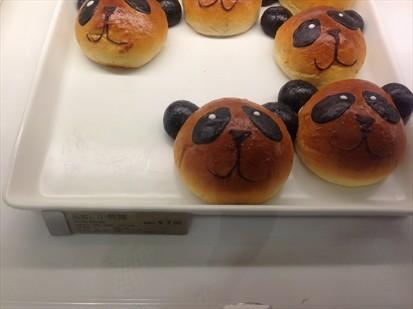 而且面包都做成小动物的可爱形状